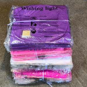 Vintage Party Supplies - Lot of 25 Wish Paper Lanterns